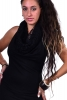 Hooded Backless Doof LBD Cowl Neck Mini Dress in Black - Lace Cowl Dress (DEVLACD) by Altshop UK