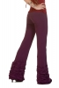 Boho Leggings, Steampunk Trousers, Bootcut Flares in Purple - Frill Trousers (DEVLFT) by Altshop UK