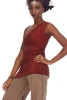 Little Bodycon Asymmetric One Shoulder Mini Dress in Red Mottle - Interlock Dress Top (DEVOSHD) by Altshop UK