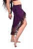 Gypsy Boho Skirt, High Low Psy Trance Goa Goddess Skirt in Purple & Brown - Sitar Skirt (DEVSHLSK) by Altshop UK