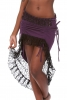 Gypsy Boho Skirt, High Low Psy Trance Goa Goddess Skirt in Purple & Black - Sitar Skirt (DEVSHLSK) by Altshop UK