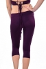 Cropped Psy Trance Weave Plait Yoga Festival Hippy Leggings in Purple - Short Plait Leggings (DEVSSPL) by Altshop UK