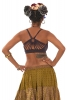 Cotton Goa Festival Bikini Crop Top in Black - Starburst Bra (DEVSTARB) by Altshop UK