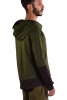 Mens Hooded Top, Hippy Hoodie, Long Sleeve Top in Green - Topa Top (DEVTOPA) by Altshop UK