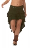 Boho High-Low Skirt, natural bohemian Goa goddess skirt in Forest - DEVWENS by Altshop UK
