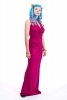 Slinky Cowl Neck Ball Gown, long evening dress in Teal - Titania Dress (DLBDLY) by Altshop UK