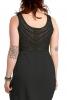 High Low Crochet & Jute Dress in Black - Choli Dress (DLCHODR) by Altshop UK