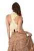 Boho Goddess Mini Waistcoat in Cream - Boucle Mini Vest (DLMINV) by Altshop UK