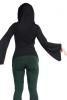 Cowl Hooded Top, Drape Cowl Neck Boho Top Woodland Hood Top in Black - Big Hood Top (DM2017) by Altshop UK