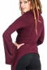 Cowl Hooded Top, Drape Cowl Neck Boho Top Woodland Hood Top in Burgundy - Big Hood Top (DM2017) by Altshop UK