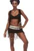 Tribal Banjara Skirt, Beaded Kuchi Coin Belt Mini Skirt - Banjara Skirt (DMAFGB) by Altshop UK