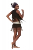 Tribal Banjara Skirt, Beaded Kuchi Coin Belt Mini Skirt - Banjara Skirt (DMAFGB) by Altshop UK