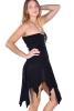 Pixie Boob Tube Dress, Goa Fae Gothic Punk Dress in Black - Boob Tube Dress (DMBOOB) by Altshop UK