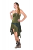 Pixie Boob Tube Dress, Goa Fae Gothic Punk Dress in Green - Boob Tube Dress (DMBOOB) by Altshop UK