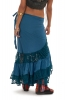 Long Gypsy Boho Skirt, Hippy Lace Wraparound Skirt in Blue - New Flamenco Skirt 2 (DMFLAM) by Altshop UK