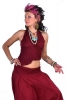 Hippy Boho Mermaid Top, Goa Festival Crop Top in Red - Ghass Mini Top (DMGHMT) by Altshop UK