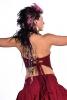Hippy Boho Mermaid Top, Goa Festival Crop Top in Red - Ghass Mini Top (DMGHMT) by Altshop UK