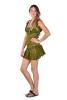 Lace Fairy Dress, Sexy Faery Dress, Fae Mini Dress in Green - Lace Dress (DMLPDR) by Altshop UK