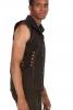 Mens Tribal Psytrance Vest Top in Black - Men Moon Vest (DMMMVE) by Altshop UK