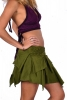 Pixie Skirt, Psy Trance Clothing, Boho Festival Miniskirt in Green - Inspiral Skirt (DMNISS) by Altshop UK