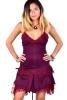 Corset Back Pixie Dress, Festival Fae Mini Dress in Red - Starshine Dress (DMSTAR) by Altshop UK