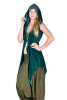 Samhain Priestess Tunic, Velvet Witch Jacket in Green - Moon Tunic (DMWITC) by Altshop UK