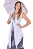 Samhain Priestess Tunic, Velvet Witch Jacket in White - Moon Tunic (DMWITC) by Altshop UK