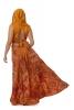 Long Earthy Hippy Patchwork Wrap Skirt  in Orange - Earth Skirt (DSCN27817) by Altshop UK