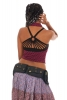 Cotton Canvas Pocket Belt With Rivets, Pixie Fanny Pack in Black - Lotus Belt (EYLLOT) by Altshop UK