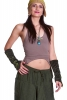 Velvet Pixie Arm Warmers, Psy Trance Festival Gauntlets in Green - Swirl Gauntlets (F39-7) by Altshop UK