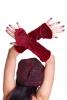 Velvet Pixie Arm Warmers, Psy Trance Festival Gauntlets in Red - Swirl Gauntlets (F39-7) by Altshop UK