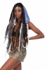 Reversible Satin Fake Fur Hippy Hood in Blue and Purple - Satin Hood (GFHOOD) by Lovely Jubbly