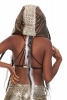 Reversible Satin Fake Fur Hippy Hood in Copper - Satin Hood (GFHOOD) by Lovely Jubbly