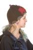 Fleece Pixie Hippy Hat, Cute Ladies Beanie in Black - Maple Leaf Hat (HT2060) by Altshop UK
