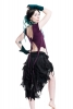 High-Front Ragged Pixie Wrap Skirt in Black - LBSKKA by Gekko