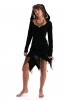Lace & Cotton Tatty Hooded Pixie Dress - Black