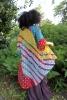 Colourful floaty festival beach kimono in Gold Spot - Poetry Kimono (LMKIMO) by Living Poetry