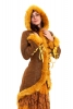 Elven Fishtail Coat with Furry Trim in Gold - Lemonade Coat (LTELFC) by Altshop UK