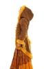 Elven Fishtail Coat with Furry Trim in Gold - Lemonade Coat (LTELFC) by Altshop UK