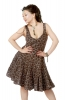 Cotton Summer Dress, Tiered Mini Dress in Brown - Tiered Midi Dress (MEDR048) by Altshop UK