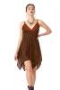 Pixie Hem Mini Festival Dress in Black/Orange - Butterfly Dress (MEM8) by Altshop UK