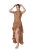 High Low Gypsy Boho Dress in Beige - Short Front Nani Dress (MESSFND1) by Altshop UK