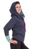 Batwing Hiphop Hoodie, Organic Cotton Urban Top in Blue - Hip Hop Hoodie (MORT09) by Altshop UK