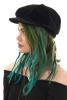 Velvet Baker Boy Hat, Ladies Hippy Newsboy Cap in Black - Velvet BB Hat (MZVEBB) by Maz