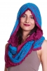 Infinity Scarf with Hood, Burning Man Festival Hippy Hood in Cerise & Turquoise - Infinity Hood (PH1008) by Altshop UK