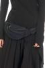 Cotton Canvas Bumbag, plain hippy nepal pocket belt in Black - Plain Bumbag (RAMLABB) by Altshop UK