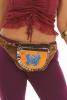 Embroidered Pocket Belt, Hippie Fanny Pack in Butterfly - Lotus Pocket Belt (RAMTDLB) by Altshop UK