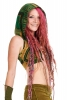 Dashiki Crop Top, African Angelina Print Tribal Pixie Bikini in Green - African Choli Hoodie (RFACHH) by Altshop UK