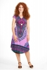 African Dashiki Print Dress, Angelina Summer Dress in Purple - Angelina Dress (RFANGD) by Altshop UK