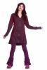 Flower of Life Coat, sacred geometry tribal festival jacket in Purple - Badwhan Jacket (RFBHAJ) by Altshop UK